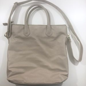 H&M Stone Gray Vegan Leather Oversized Purse